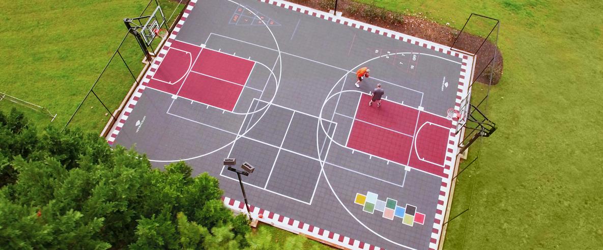 Outdoor Basketball Courts, Outdoor Basketball Court Lines Paint