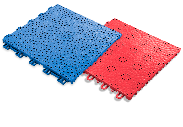 Speed Outdoor Tile - for use in outdoor volleyball courts; Compete Indoor Tile - for use in indoor volleyball courts