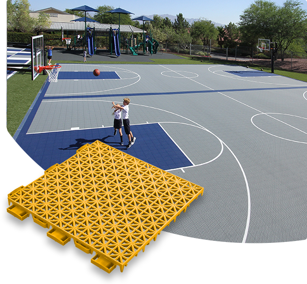 Outdoor basketball court tiles tile design ideas for How much does a basketball floor cost