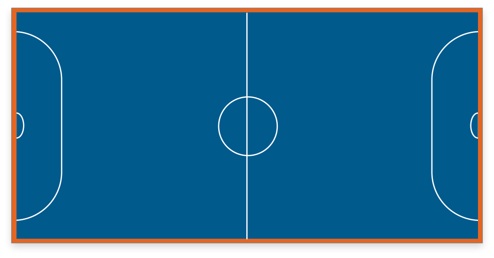 VersaCourt game court with soccer or futsal game lines