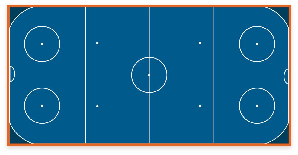 VersaCourt game court with hockey game lines