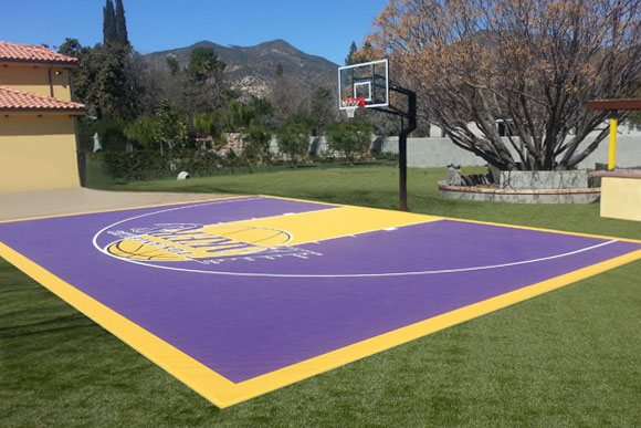 Versacourt indoor outdoor backyard basketball courts for Sport court paint