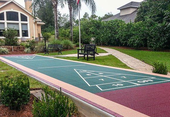 Versacourt outdoor shuffleboard courts diy for Diy sport court