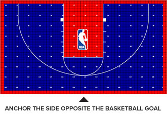 court tile positioning