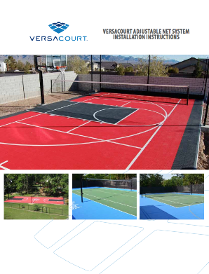 cover of VersaCourt adjustable net installation instructions booklet