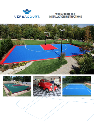 cover of VersaCourt court tile installation instructions booklet