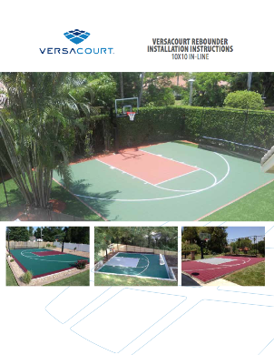 cover of VersaCourt 10' x 10' rebounder installation instructions booklet