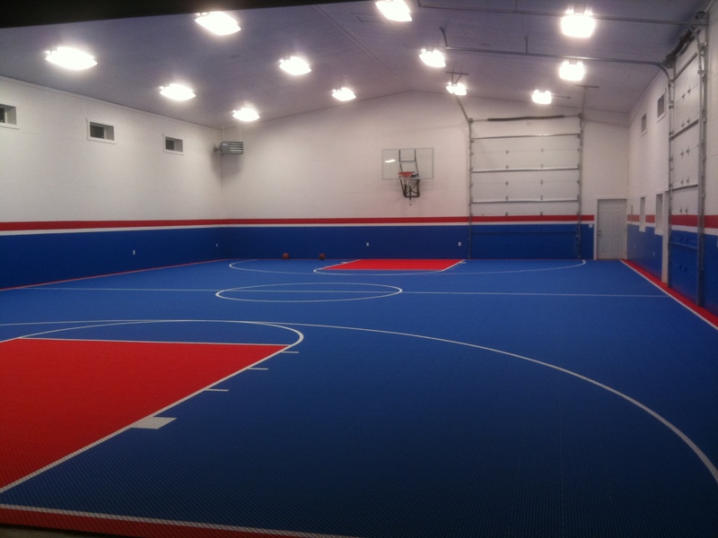 Versacourt multi sport game courts for faith based for Indoor basketball court design