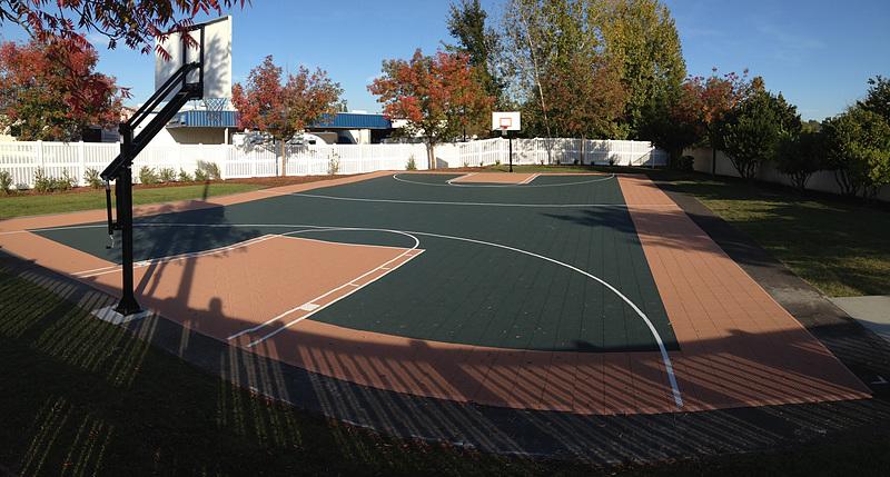 Versacourt Indoor Outdoor Backyard Basketball Courts