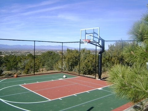Versacourt indoor outdoor backyard basketball courts for How much is a basketball court