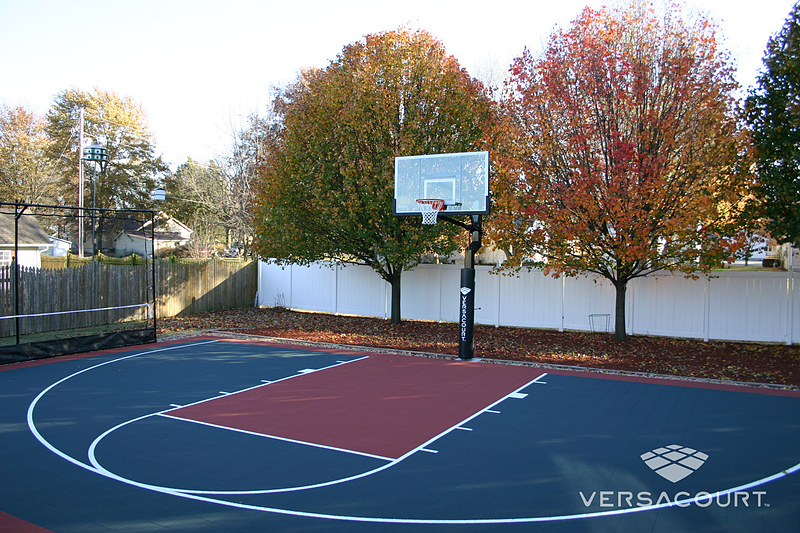 Versacourt indoor outdoor backyard basketball courts for How much to build a basketball court