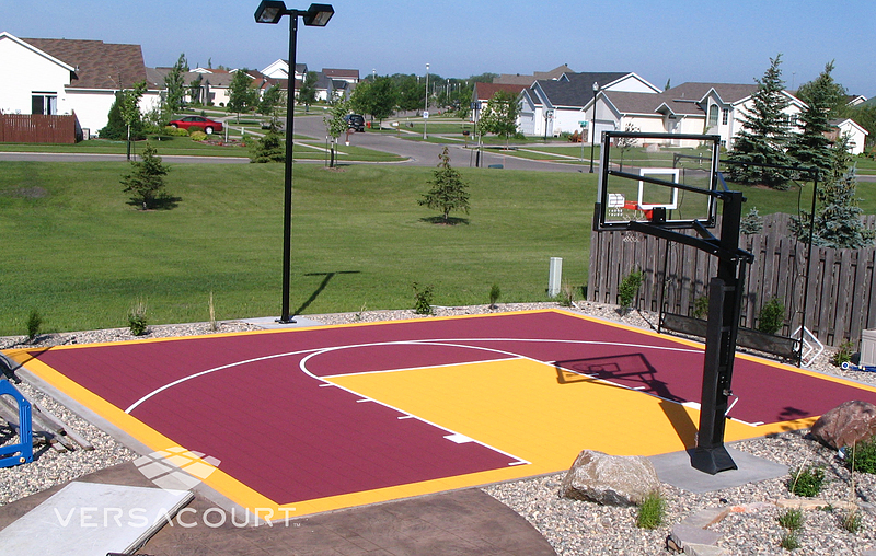 Home Backyard Basketball Court Photos