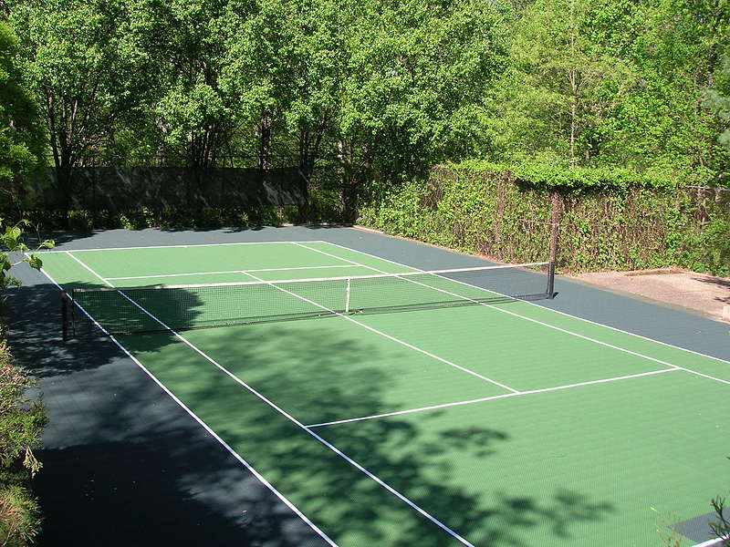 Backyard Tennis Court versacourt | court tile for tennis court construction & resurfacing